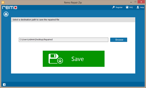 WinZip Repair Tool - Save File